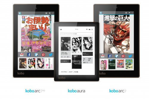 Japan - Kobo Family of Devices