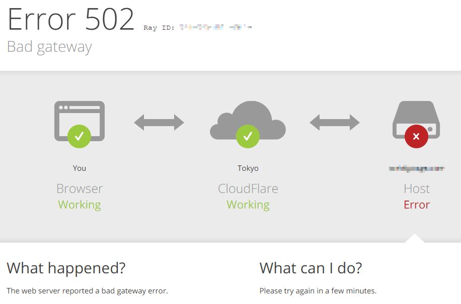 Error 502と表示されてページが見れない場合の対処法 | ハルパス