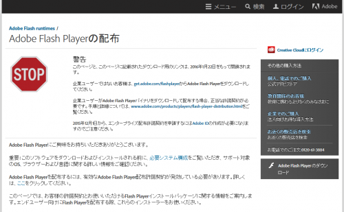 Distribution of Adobe Flash Player