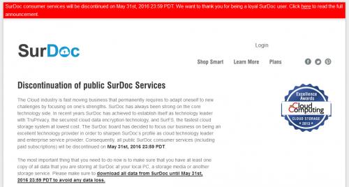 SurDoc discontinue