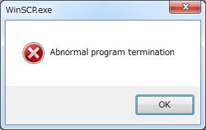 Abnormal program termination