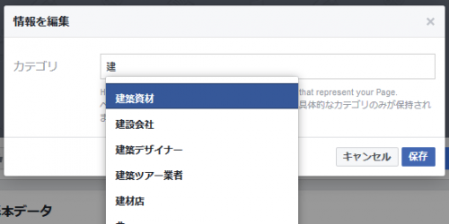 Facebook Page Category